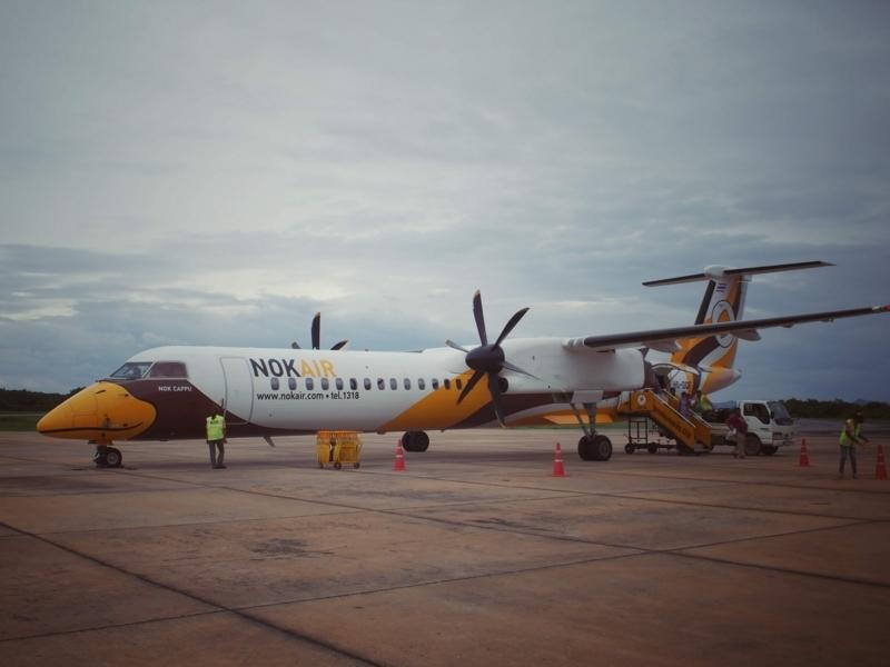 バンコクのドンムアン空港からルーイ空港へ行くノックエア