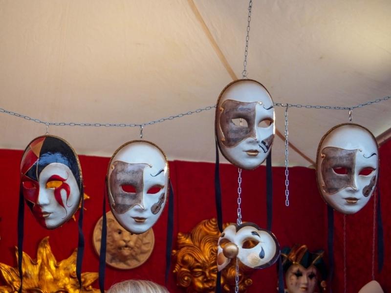 ヴェネツィアのカーニバルで使用される仮面
