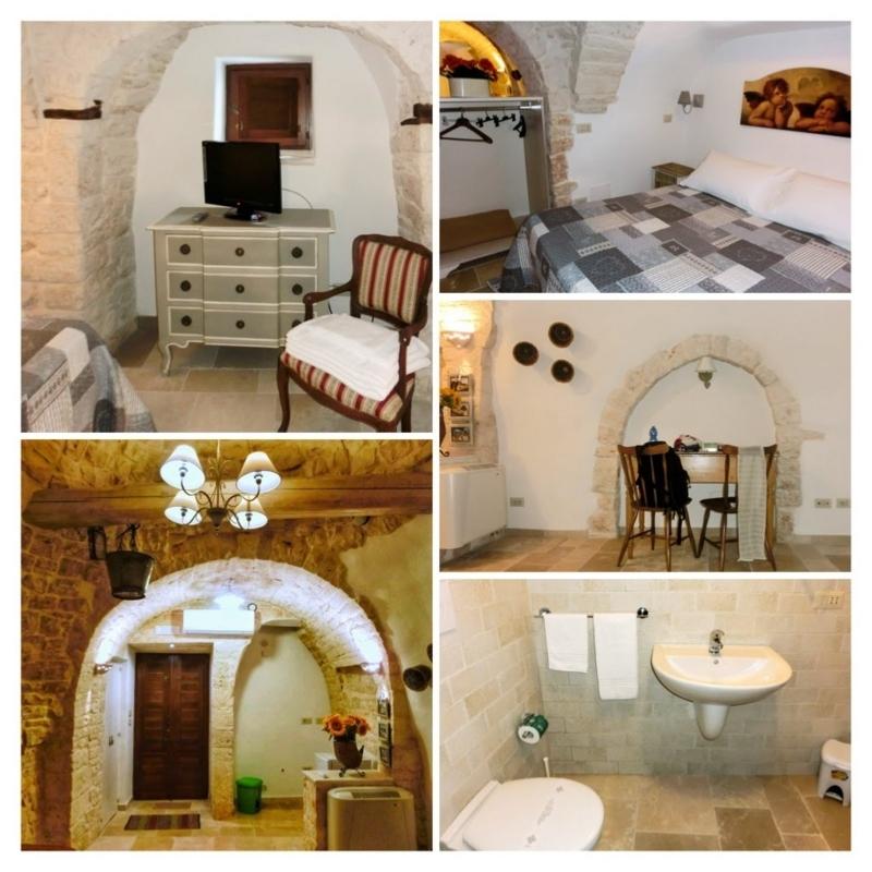 アルベロベッロにあるトゥルッリ型のホテル、ティピコリゾートの客室