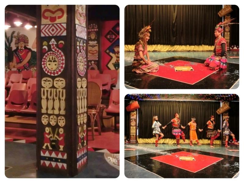 台北の南にある烏来(ウーライ)の台湾の原住民であるタイヤル族が住む酋長文化村で上演されるタイヤル族の踊り