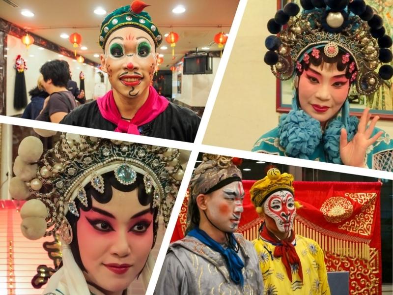 京劇が上演されるタイペイアイ(Taipei Eye)で、公演終了後、記念撮影をしてくれる出演者