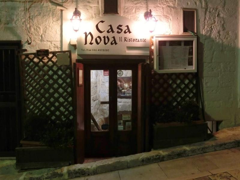 アルベロベッロのレストラン「カサノバ(Casa Nova)」
