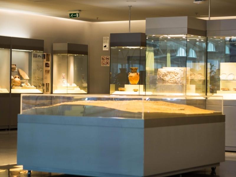 アテネ国際空港にある博物館の様子。中は撮影禁止なので外から撮影