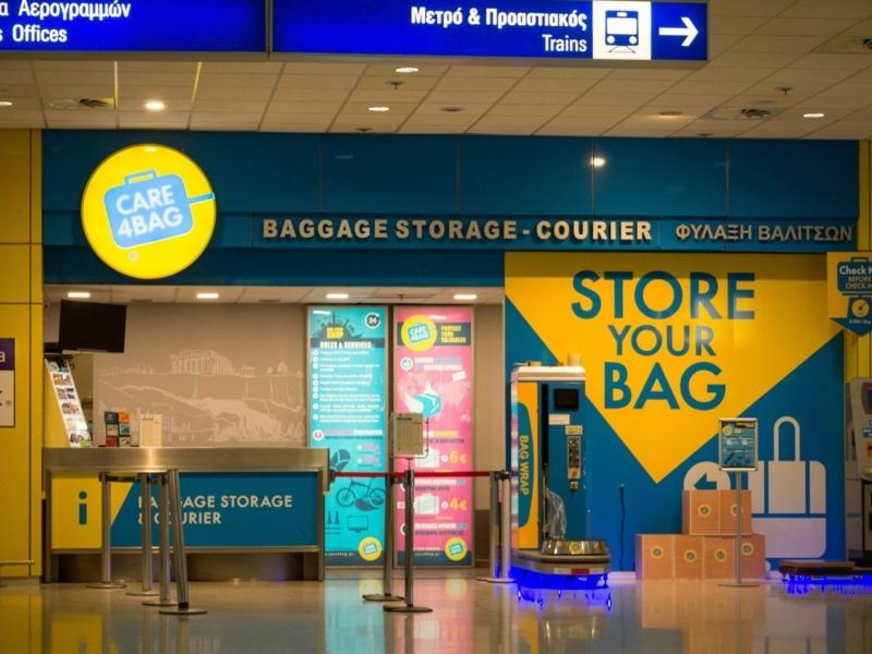 アテネ国際空港の到着階にある荷物預かり所