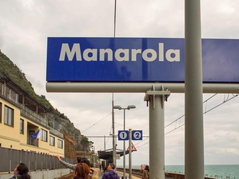チンクエ・テッレのマナローラ駅