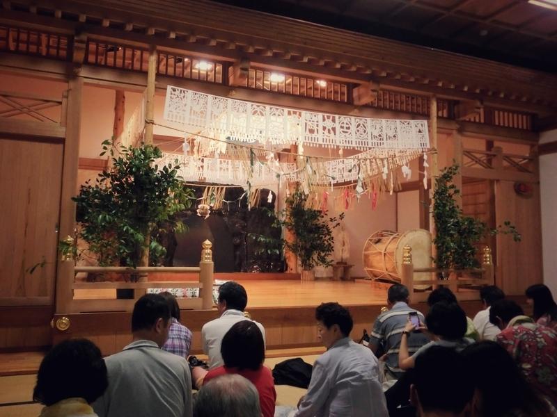 高千穂神社で行われる夜神楽の会場