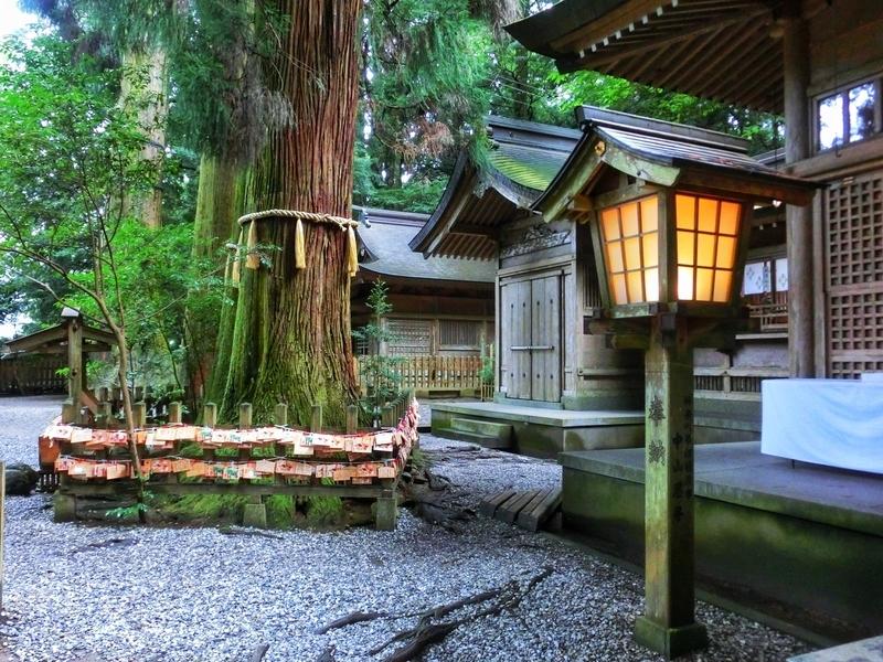 夜神楽が行われる高千穂神社