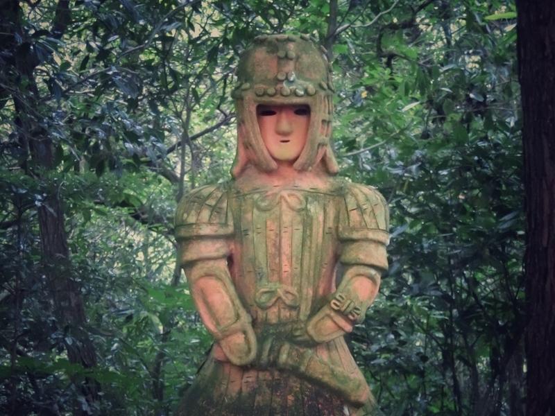 宮崎市の平和台公園にあるはにわ園の大魔神のような埴輪