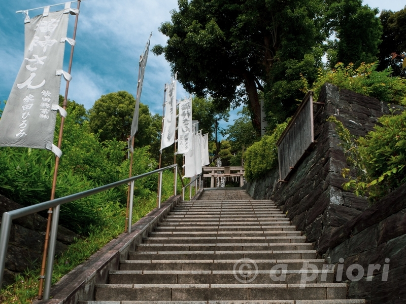 徳島県徳島市の文化の森にある王子神社の石段