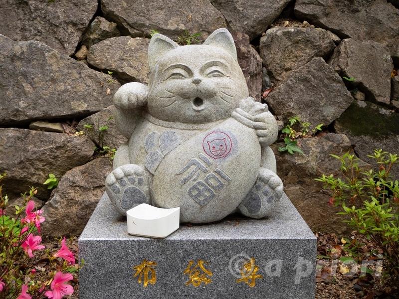徳島県阿南市にあるお松大権現の猫の七福神にある招き猫の布袋さん
