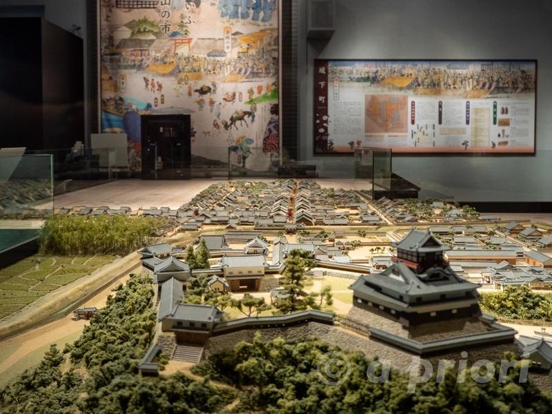 愛知県犬山市にある犬山市文化史料館(城とまちミュージアム)の犬山城下町のミニチュアの模型