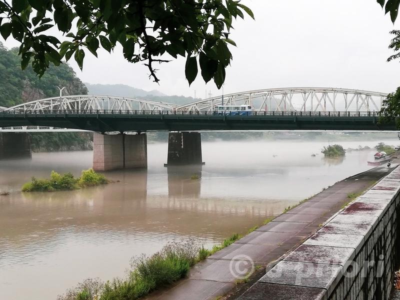 愛知県犬山市を流れる木曽川