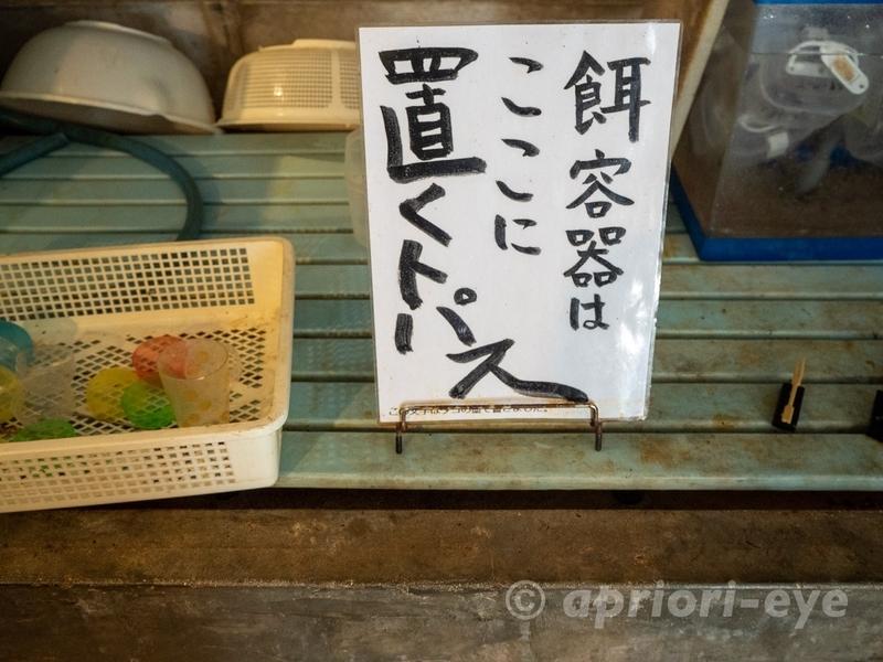 黒島研究所のカメのエサが入ったカプセルを置く場所