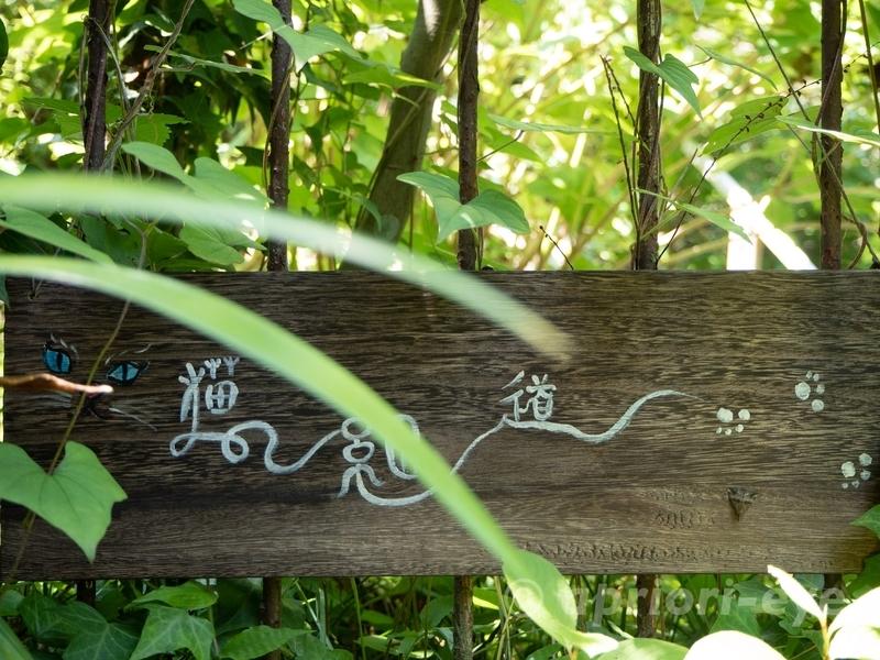 尾道の猫の細道にある猫の絵が描かれている案内板