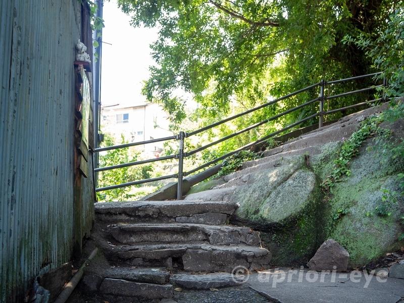 尾道にある猫の細道の石段の歩道