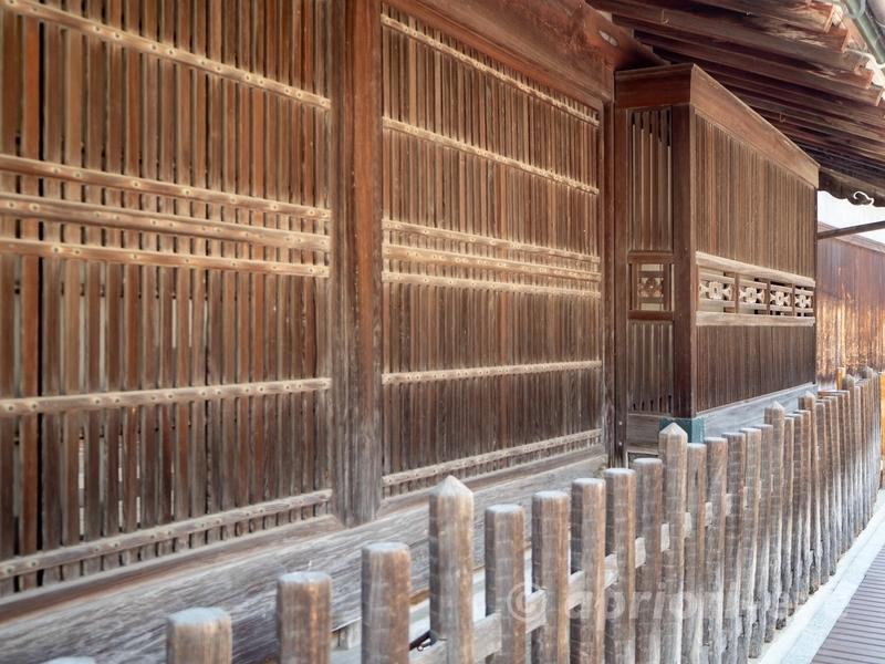 竹原市の町並み保存地区にある松阪邸