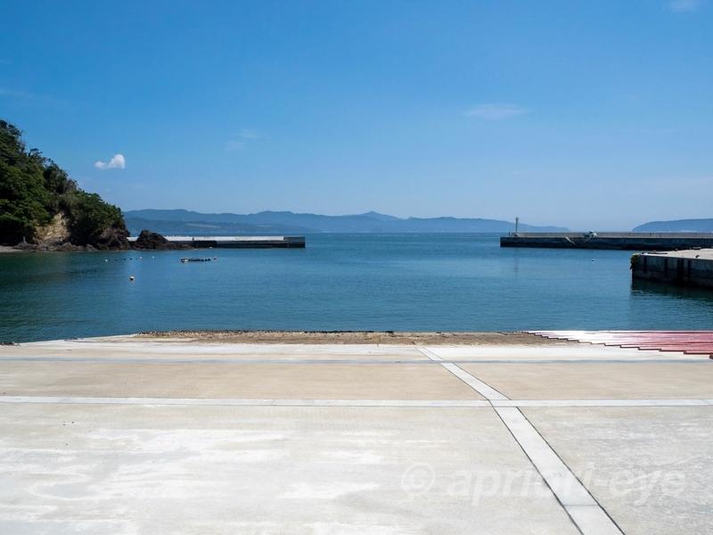 網地島ラインのフェリーが発着する田代島の大泊港