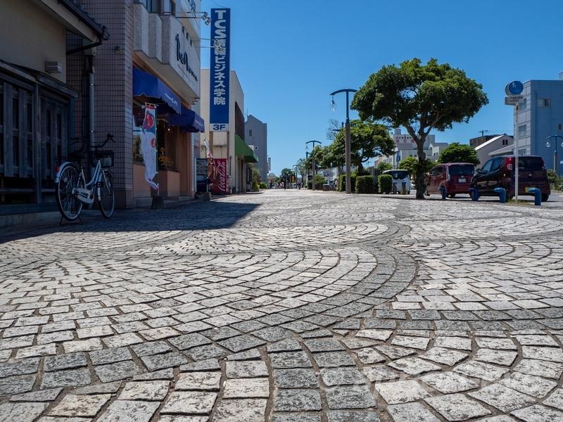 広々とした歩道の銚子駅前通りシンボルロード
