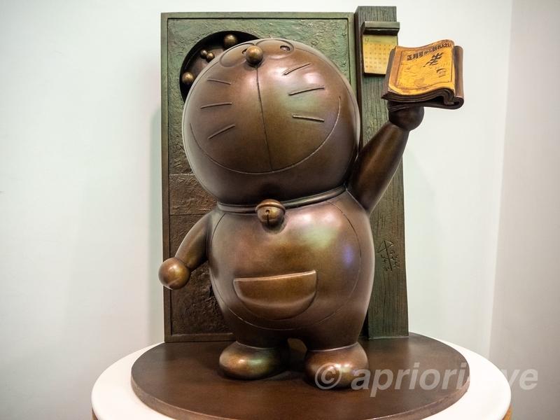 藤子・F・不二雄ふるさとギャラリーにあるドラえもんの銅像