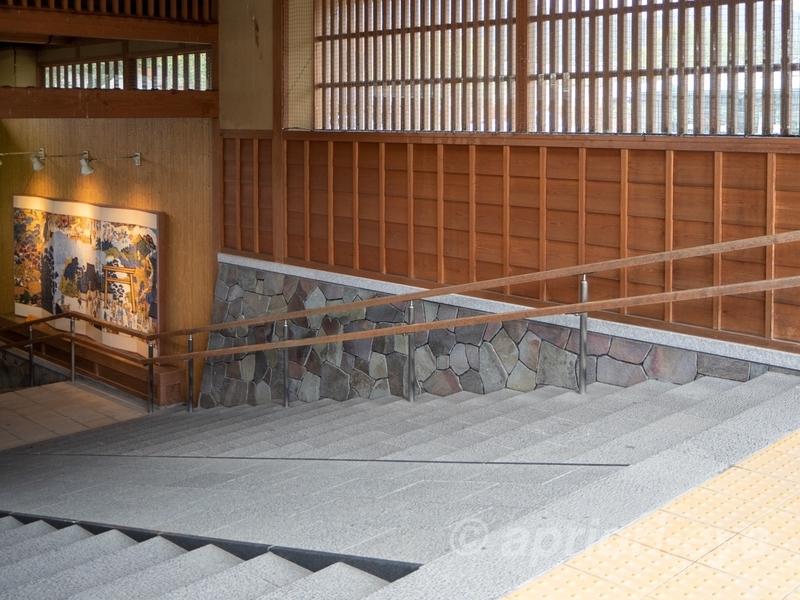 おはらい町通りのはずれにある内宮おかげ参道の石段