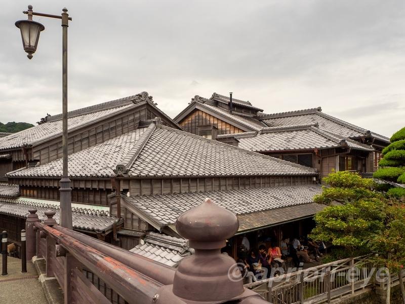 おはらい町通りにある赤福の屋根