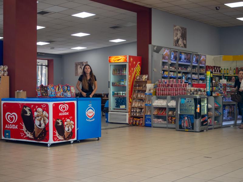 アテネのリオシオン・ターミナル内にある売店