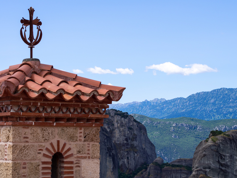 メテオラのヴァルラーム修道院