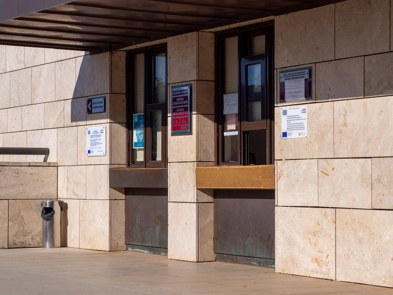 デルフィ考古学博物館の入口