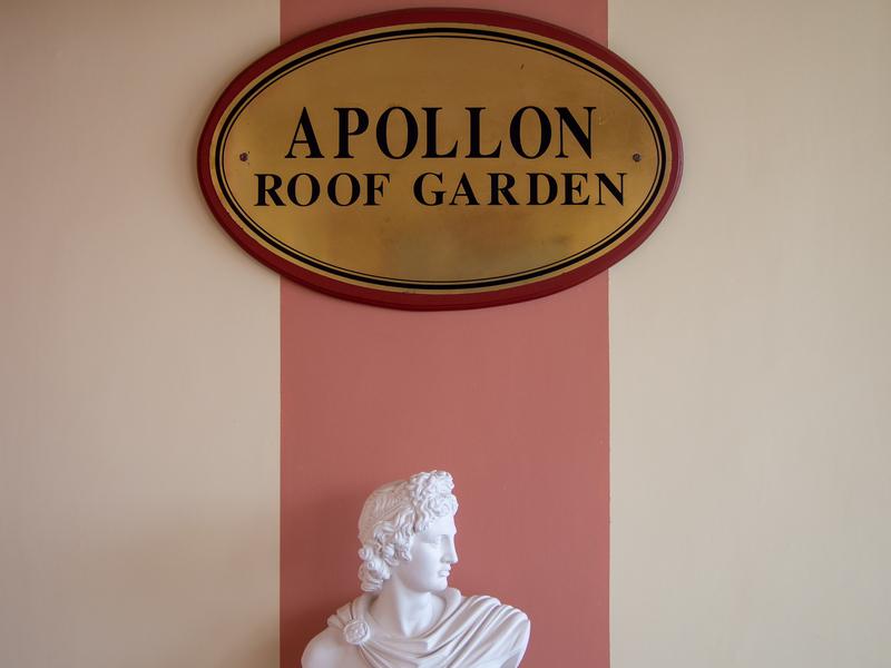 アテネ駅前にあるオスカーホテルの屋上にある「Apollon Roof Garden」