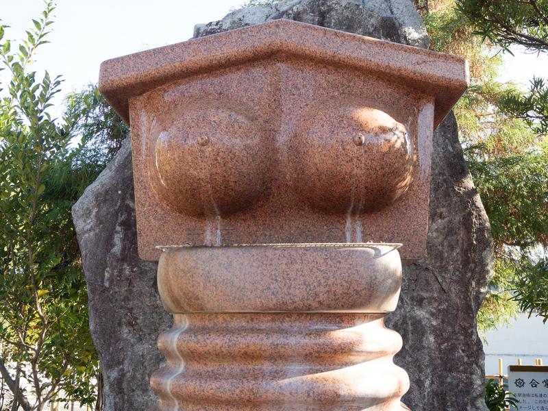 おっぱいの形をした茶色の石
