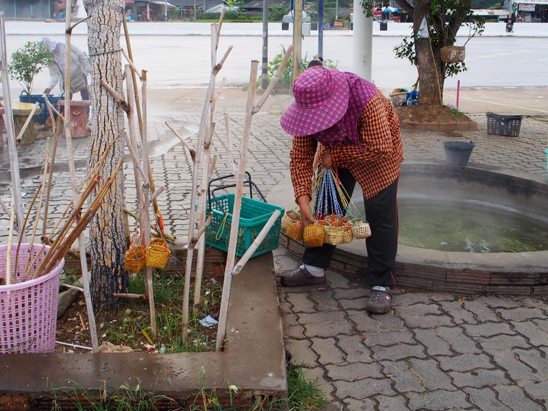 チェンライの温泉で売っている温泉卵