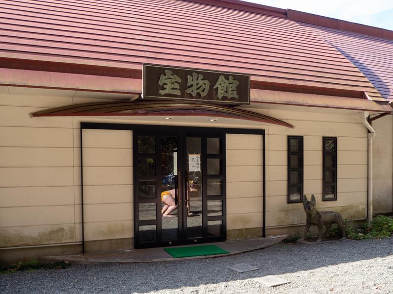 犬山市にある桃太郎神社の宝物館の建物