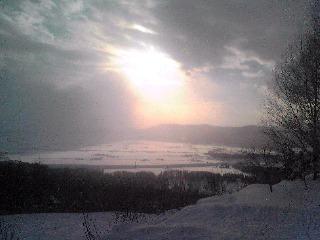 スキー場より上川盆地
