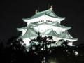[東海][名古屋][名古屋城][城]夜の名古屋城、名城公園より
