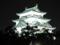 夜の名古屋城、名城公園より