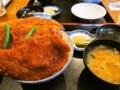 [食べ物][カツ丼]わらじカツ丼@西武秩父駅