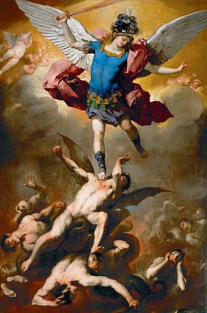 グイド・レーニ「墮天使を踏みつける大天使ミカエル」