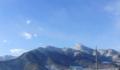 雪化粧の冠着山(姨捨山)