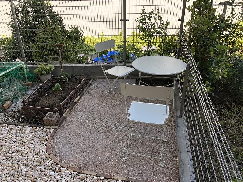 ガーデンデスク、ガーデンチェア
