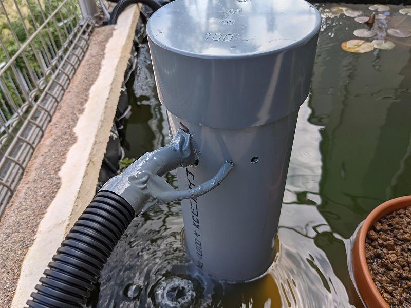 庭池のろ過装置(外観)
