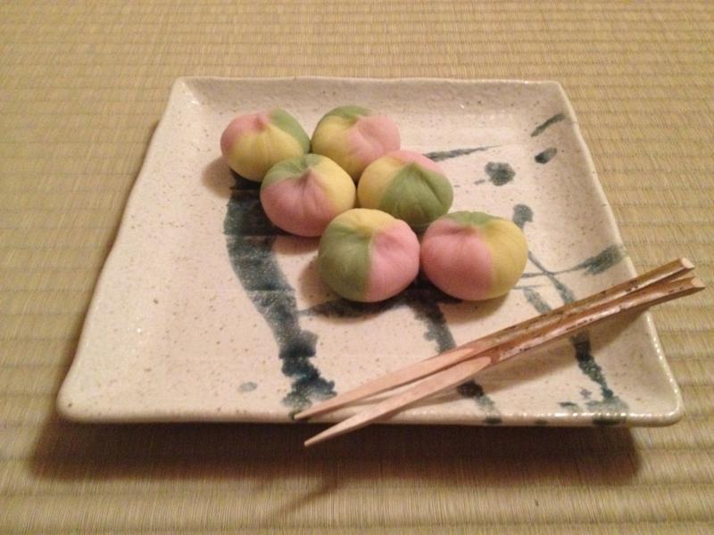 主菓子  唐錦 偶数の個数になってしまいました。。。