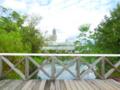【ブログから】コテージを出た橋から。