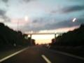 中央道からの朝焼け
