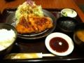 和幸でロースかつ御飯を食べました。
