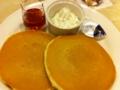 夕食は珈琲館のホットケーキです。