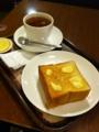 上島珈琲店の厚切りトーストを食べました。