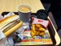 今日はロッテリアで朝食しました。
