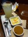 上島珈琲店のマカロニたまごサラダと珈琲プリンを食べました