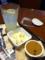 マカロニたまごサラダと珈琲プリンを食べました