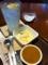 マカロニたまごサラダと珈琲プリンを食べました。